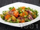 Рецепта Телешко месо със зеленчуци в тенджера под налягане